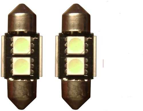 2 SMD Wit Canbus LED binnenverlichting 31mm-1