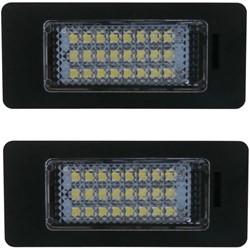 Audi A1, A4, A5, A6, A7, Q5 en VW Passat LED kenteken verlichting unit - Wit