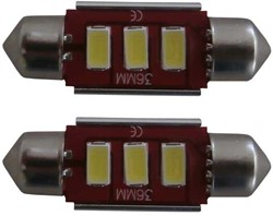 3HP LED Canbus 2.0 kentekenverlichting C5W 39mm - wit