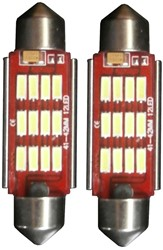 12 LED C5W High Power Canbus kentekenverlichting-42mm-wit