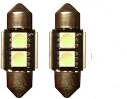 2 SMD Blauw Canbus LED binnenverlichting 31mm
