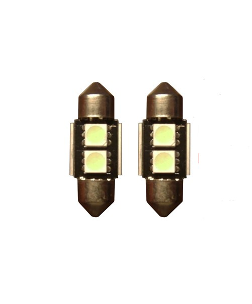 2 SMD Groen Canbus LED binnenverlichting 31mm
