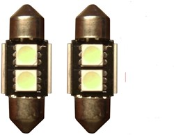 2 SMD Rood Canbus LED binnenverlichting 31mm