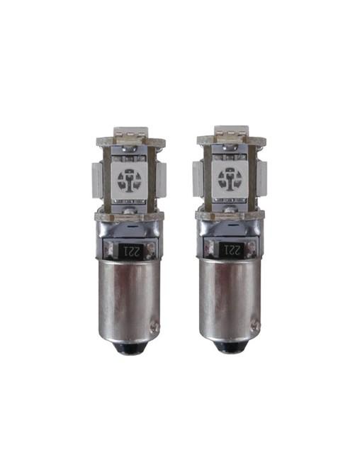 5 SMD LED knipperlicht H6w / BAX9s oranje