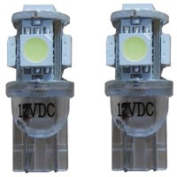 Xenon Look 5 SMD LED kentekenverlichting W5W T10