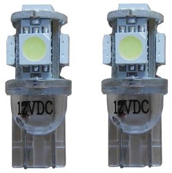 Xenon Look 5 SMD LED kentekenverlichting W5W T10