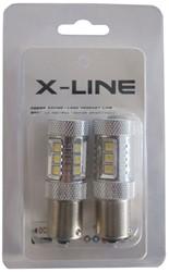 BA15s 50w LED remlicht / achterlicht wit