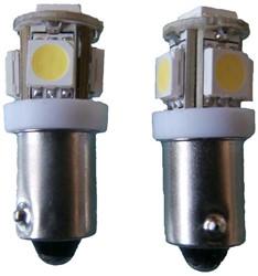 24v 5 SMD LED BA9s - wit