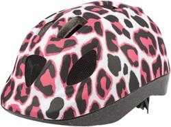 Polisport Kinder Helm Pinky Cheetah 46/53cm wit/roze