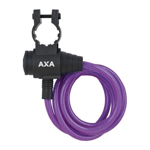 AXA Zipp kabelslot paars 120cm ø8mm