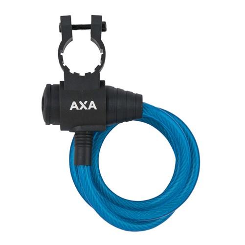 AXA Zipp kabelslot blauw, 120cm ø8mm