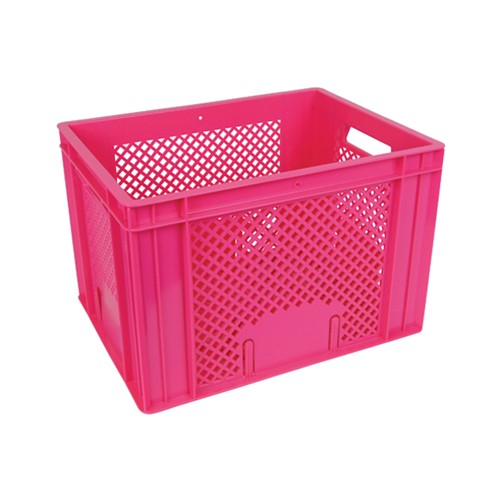 Fietskrat roze 400x300x260mm