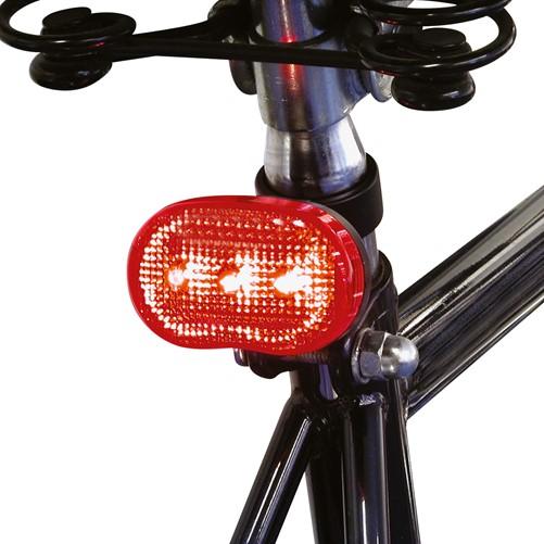 Achterlicht 3 LEDs op batterij