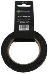 4 Connect Shrinkable tube,  2:1 Black with glue 6.4mm 3m