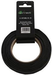 4 Connect Shrinkable tube,  2:1 Black with glue 10mm 3m