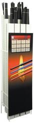 Krimpkous display, assorti, lengte 1,22m, 110st.