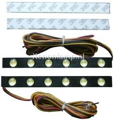 6 HighPower LED dagrijverlichting zwart