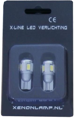 6 SMD LED stadslicht W5W-2