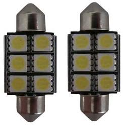 6 SMD Canbus LED 24v C5W - wit