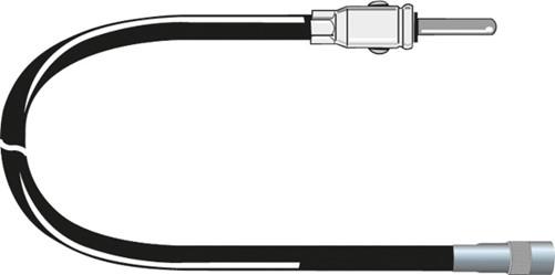 Carcoustic Antenne Adapter ISO Female-DIN 12V 15cm