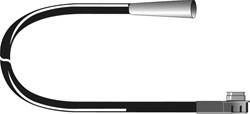 Carcoustic Antenne Adapter ISO-DIN Plug 12V 15cm