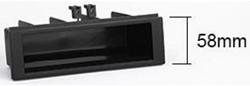 Bakje voor double DIN inbouwframe, 182x113 mm Zwart