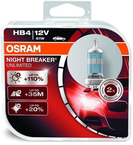 Osram Halogeen Night Breaker Unlimited - HB4-2