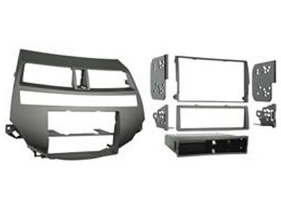 1-DIN frame, Honda Accord 08 > met dual airco bruin/grijs