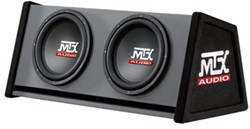 "MTX RT12X2DV Roadthunder 2x12"""" vented enclosure"