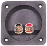 Aansluitpaneel voor woofer, verguld, voor 8mm² draad