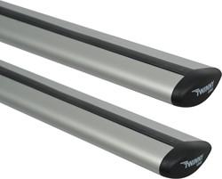 Universele Dakdragerset Twinny Aluminium Fly Bar 124cm voor auto's met open & gesloten reling