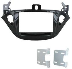 2-DIN frame ECO FRAME Opel Adam 2013-> Corsa E Piano Black