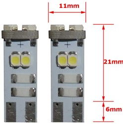 8 SMD CANBUS LED Stadslicht W5W T10