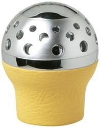 Pookknop -Speedster- geel leer - lift achteruit
