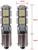 9 SMD CANBUS LED Stadslicht H6W-2