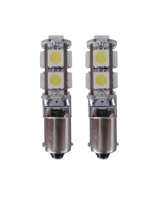 9 SMD CANBUS LED Stadslicht H6W