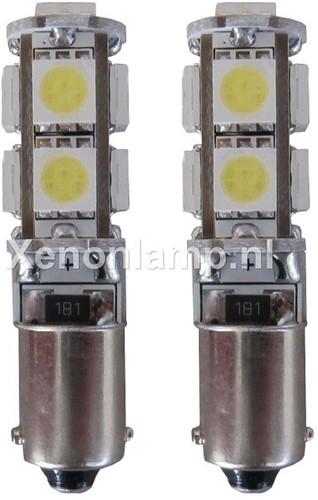 9 SMD CANBUS LED Stadslicht H6W-1