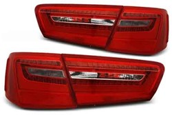 Audi A6 C7 11-10.14 Red White Achterlicht LED Unit