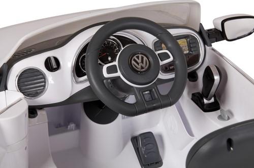Accu-Auto Volkswagen Beetle Wit - 6V - incl. MP3 - vanaf 3 jaar-2