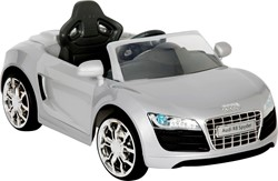 Accu-Auto Audi R8 Zilver - 6V - incl. MP3 en afstandsbediening - vanaf 3 jaar