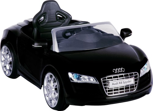 Audi R8 Zwart - 6V - incl. MP3 en afstandsbediening-1
