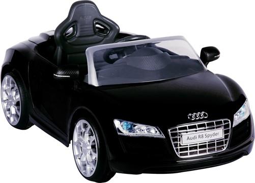 Audi R8 Zwart - 6V - incl. MP3 en afstandsbediening