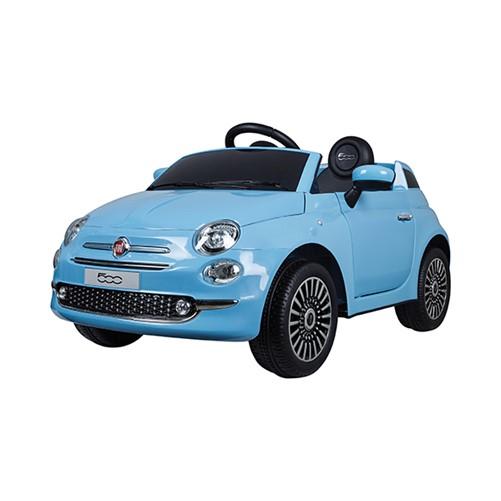 E-Car Fiat 500 Blauw