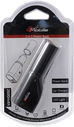 3in1 USB-Charger 2600mAh