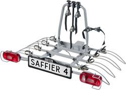 Saffier IV qc Trekhaak fietsendrager  met snelkoppeling voor 4 fietsen