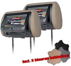 Bullit Universele Hoofdsteun Met 7inch LCD+DVD (set van 2)