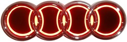 LED logo - Audi - Rood