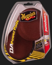 Meguiars Power Pads Compound 4'' voor Dual Action Polisher, Set à 2 stuks