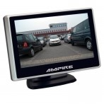 Ampire 4 inch/ full HD beeldscherm/plakvoet en zuignap 2x RCA/camera auto switch