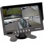 Ampire 7 inch quad monitor/maximaal 4 camera's live beeld/16/9 formaat/LED/NTSC/PAL